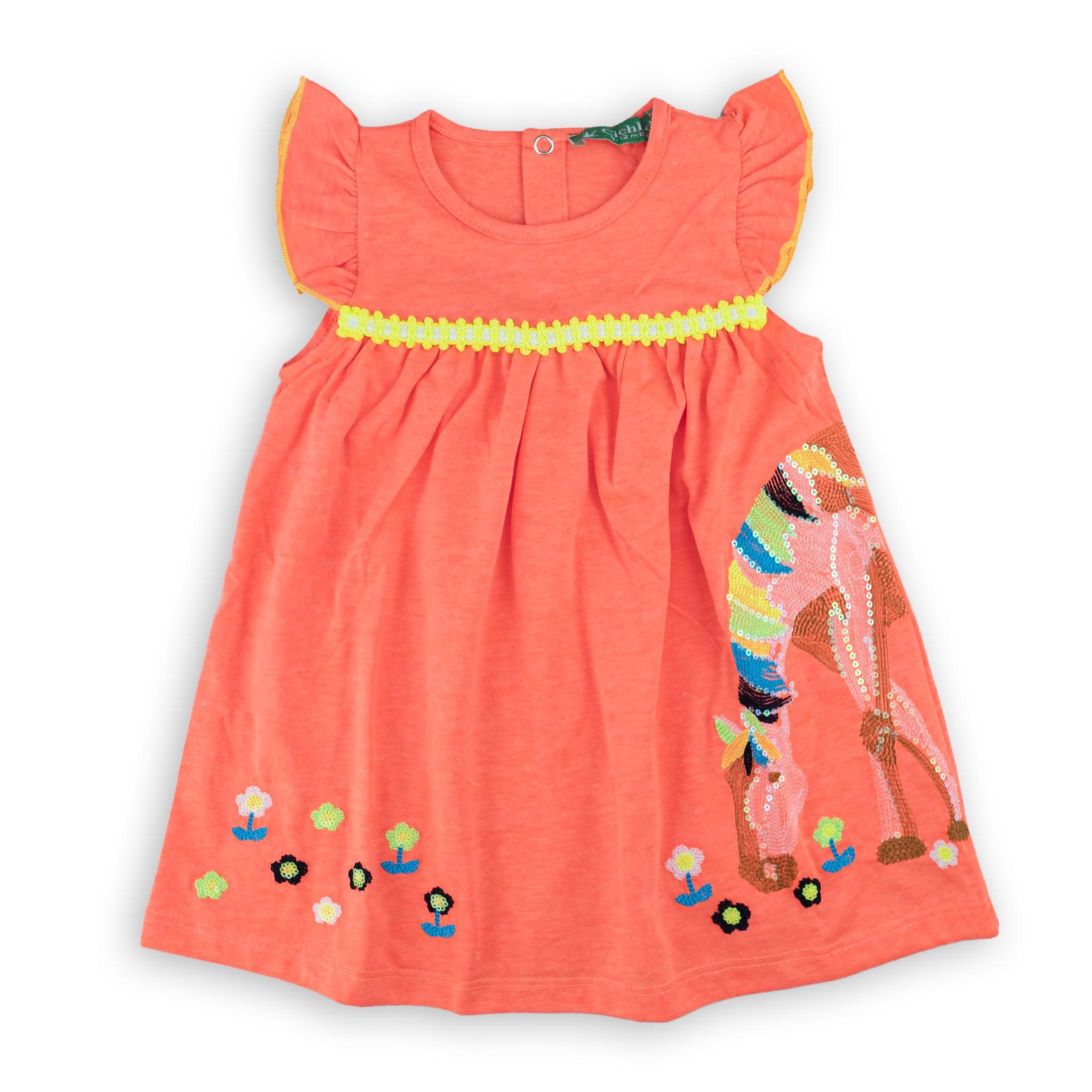 Бебешка кокетна рокличка Неон