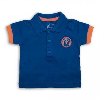 Бебешка синя тениска с яка