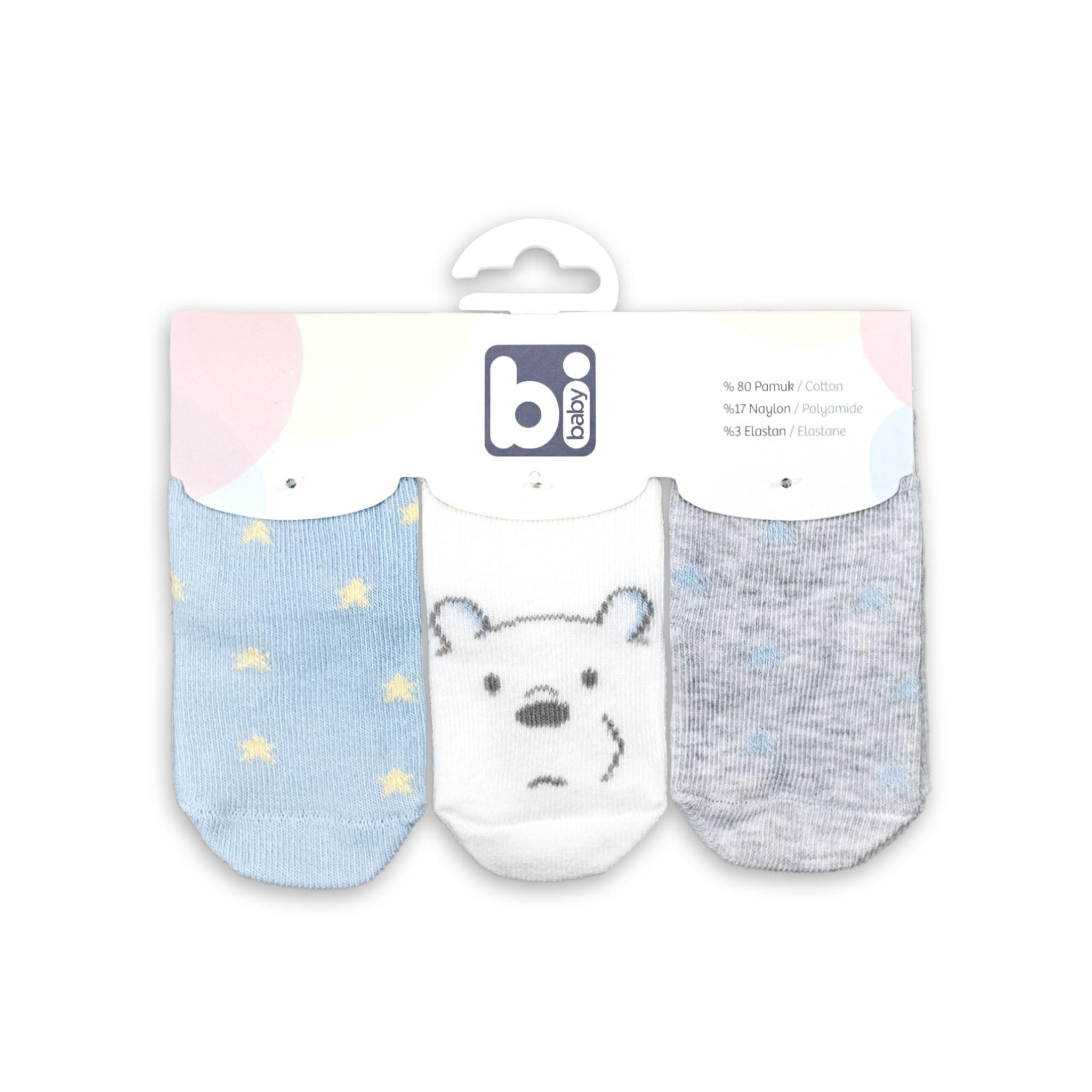 """Бебешки чорапки """"Мечо"""" 3бр."""