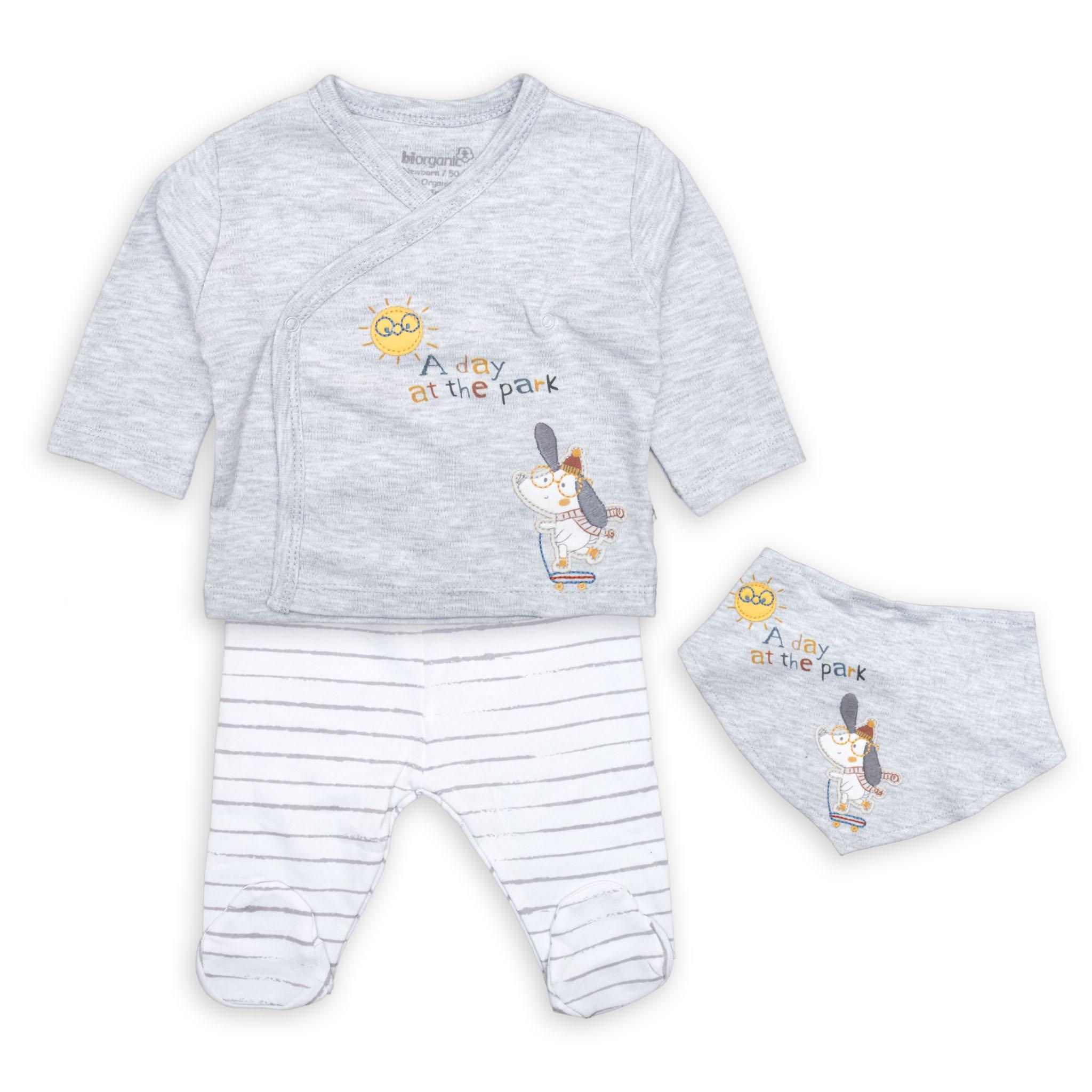 Бебешки комплект за момченце 100% Био органик памук
