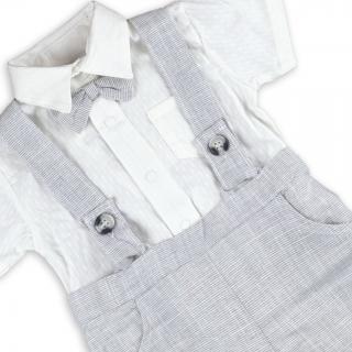 Бебешки официален комплект с папийонка