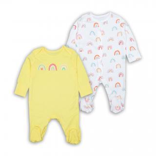 Бебешки ромпърчета Дъгички 2бр. 100% Памук