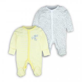 Бебешки ромпърчета Слонче 2бр. 100% Органичен памук
