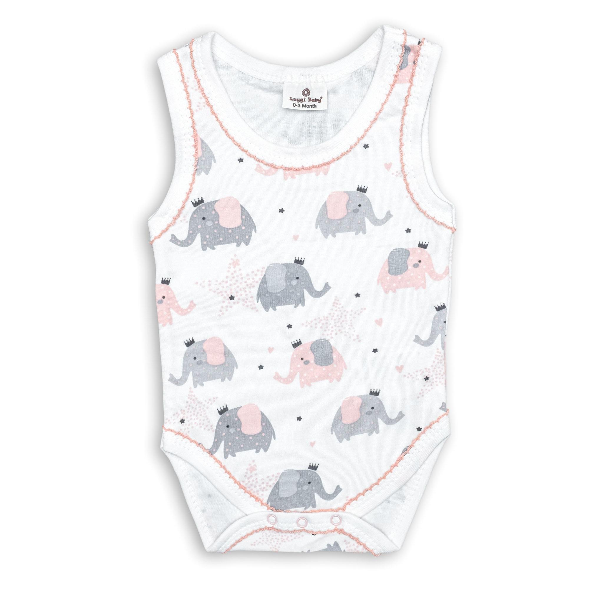 Бебешко боди Слончета 100% Органичен памук