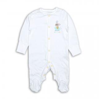 Бебешко бяло ромпърче