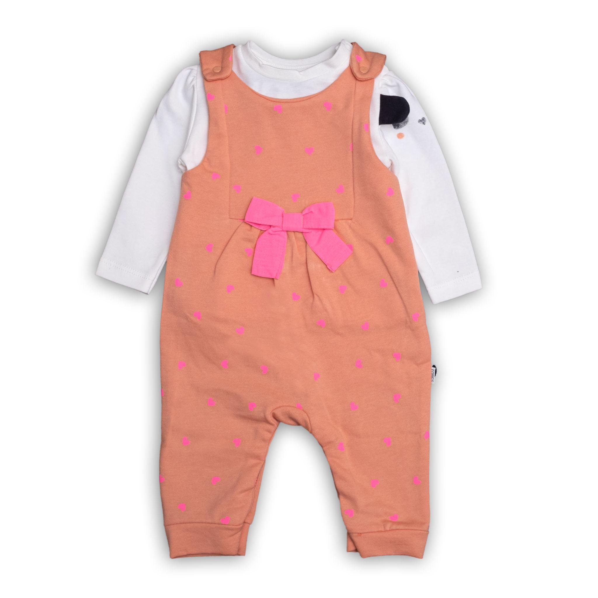 Бебешко гащеризонче с блузка и интересен ръкав 100% памук