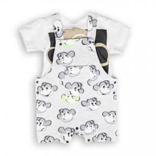Бебешко гащеризонче с тениска Маймунки