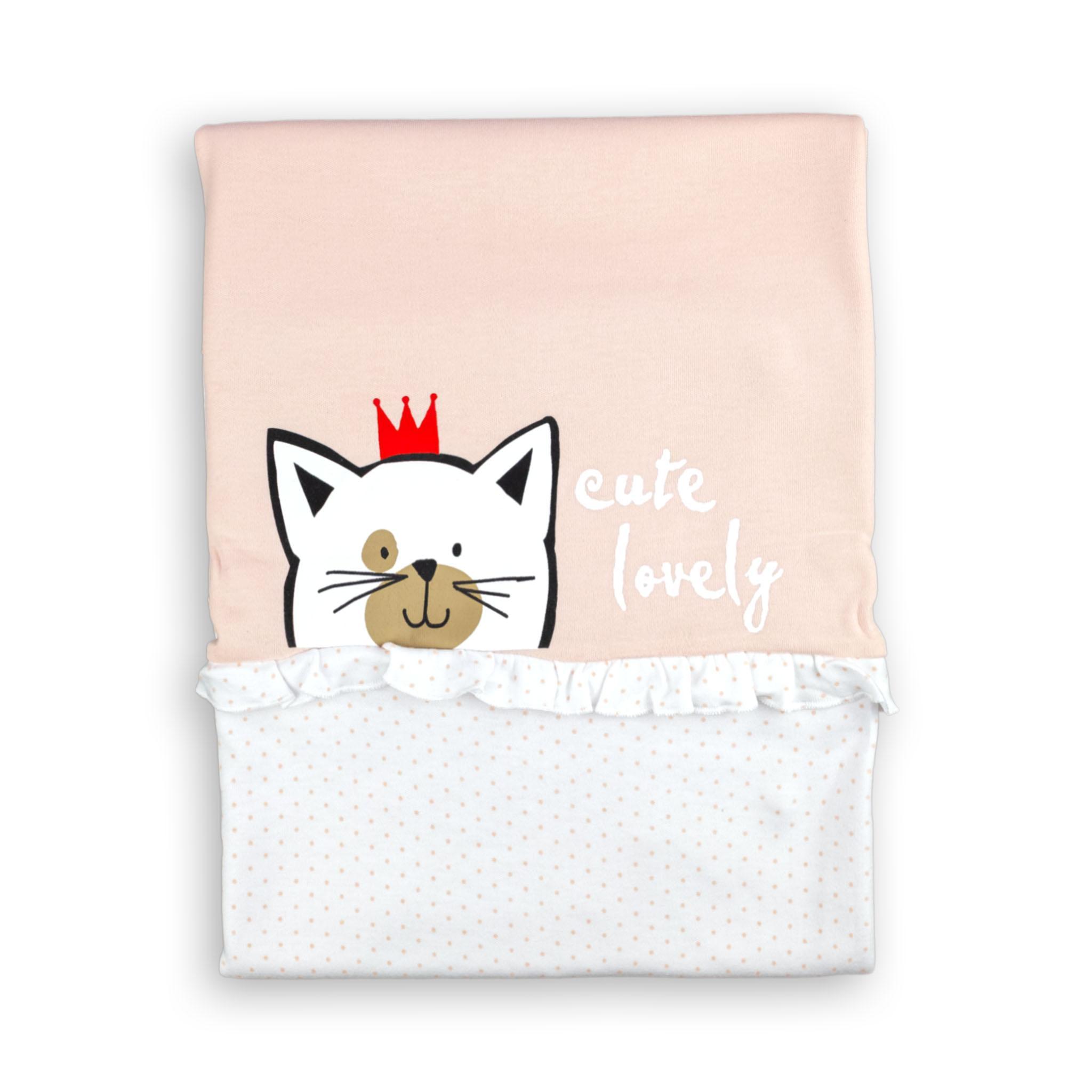 "Бебешко одеалце ""Котенце"" 100% памук"